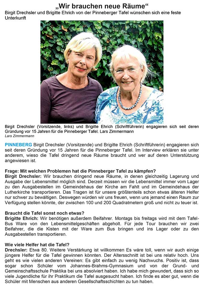 Interview Pinneberger Tageblatt 20 08 18